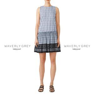 Waverly Grey Selena Drop Waist Dress Blue Size S